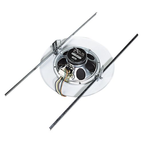 Atlas Sound Pre-assembled baffle, 10 oz Loudspeaker & transformer 25/70.7V 4W xfmr/51-8/EZ