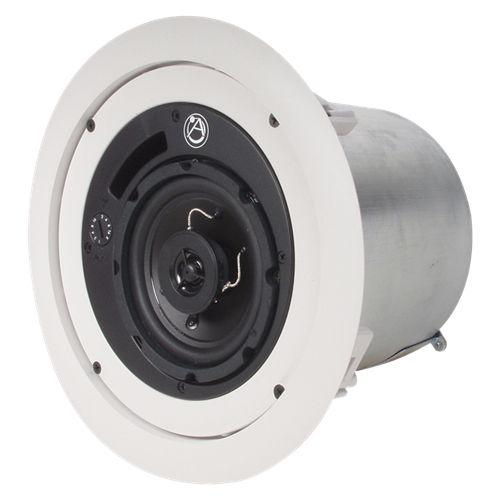 4 in 2-Way speaker system w/ 16-Watt 70.7V/100V Internal Transformer - White