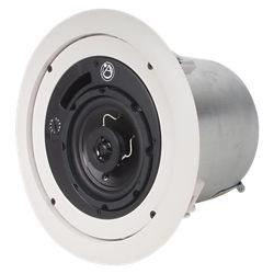 Atlas Sound 4 in 2-Way speaker system w/ 16-Watt 70.7V/100V Internal Transformer - White