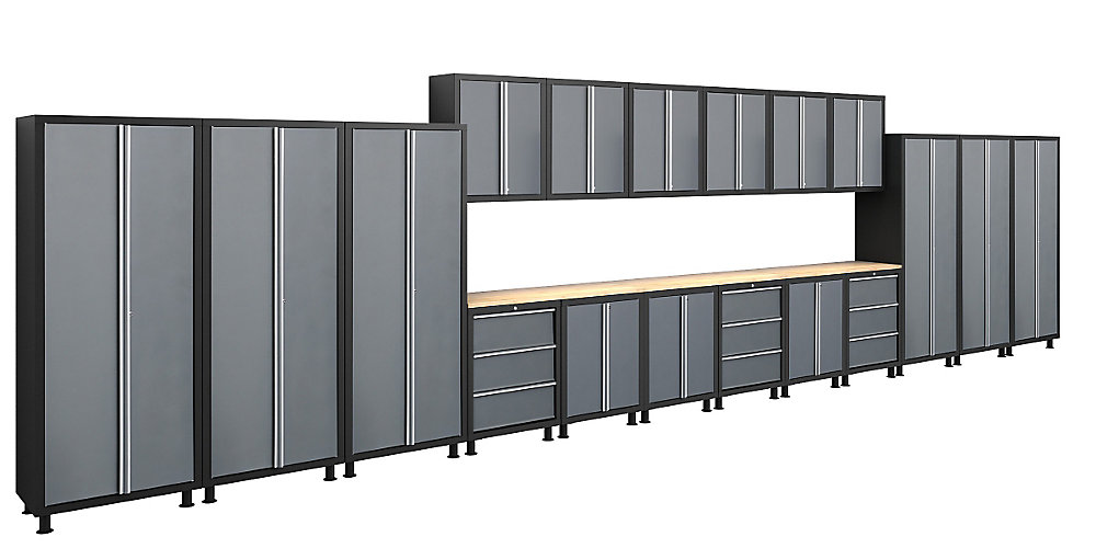 Bold Series 21-Piece Welded Cabinet Set Gray