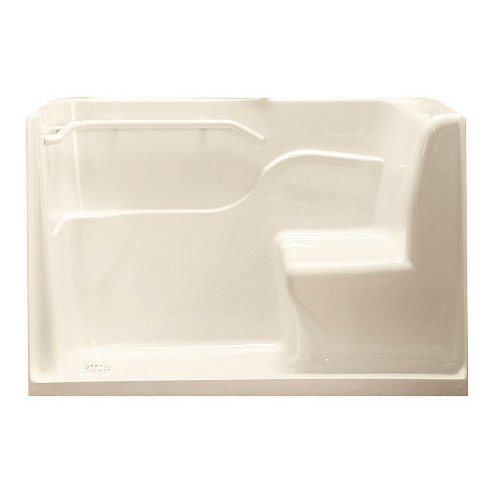 Acrylic Seated Shower Door in Linen