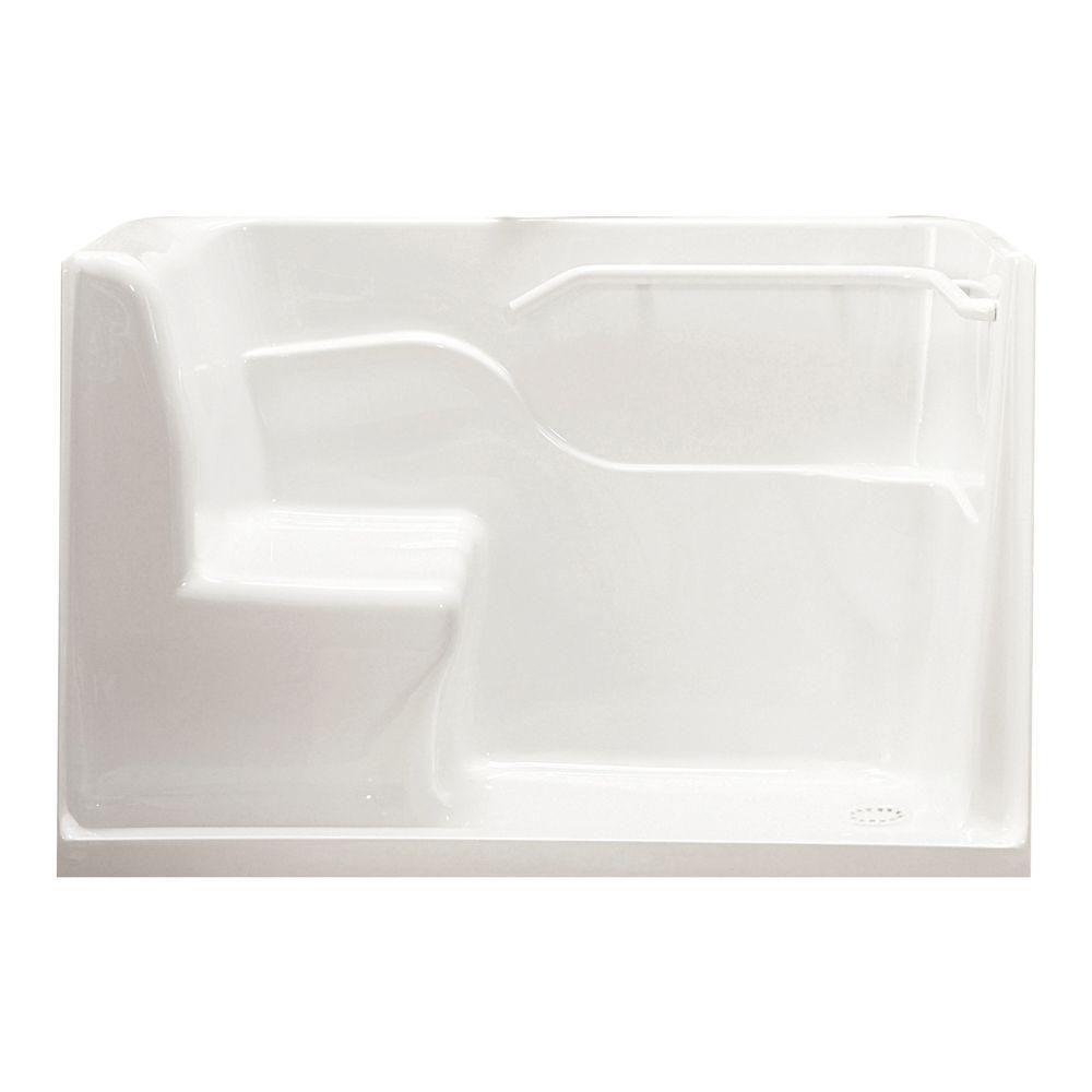 Porte de douche assise en acrylique American Standard, renvoi à droite, blanc