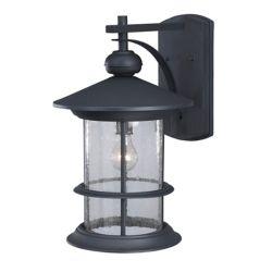 Canarm Ltd. Ryder 19 Inch Outdoor Black Lantern, Seeded Glass
