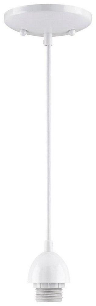 One-Light Adjustable Mini Pendant, White Finish