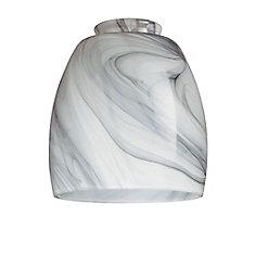 Charcoal Swirl Glass Shade