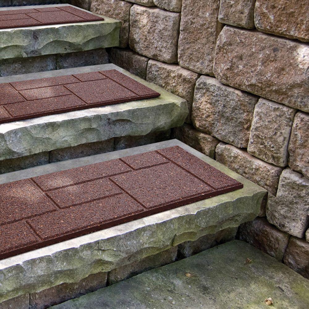Cobblestone Terra Cotta Stair Tread - 10 Inch x 24 Inch