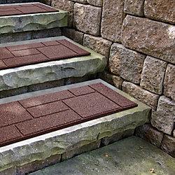 Envirotile Cobblestone Terra Cotta Stair Tread - 10 Inch x 24 Inch