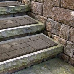 Envirotile Cobblestone Earth Stair Tread - 10 Inch x 24 Inch