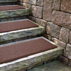 Envirotile Flat Profile Terra Cotta Stair Tread - 10  Inc x 24 Inch