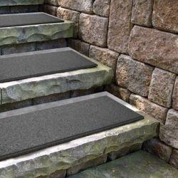Envirotile Flat Profile Grey Stair Tread - 10 Inch x 24 Inch