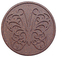 Round Decorative Terra Cotta Step Stone, 18 Inch - 2 Pack
