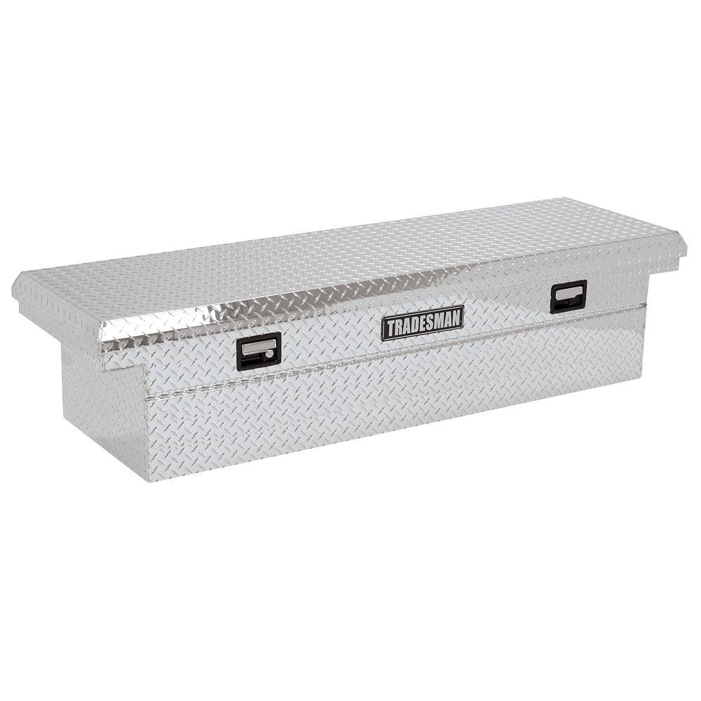 70  inch Cross Bed Tool Box, Full Size, Single Lid, Aluminum, Low Profile