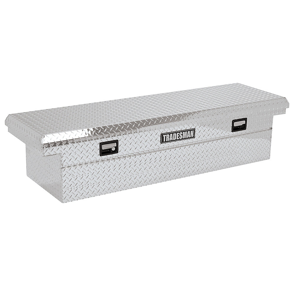 70  inch Cross Bed Tool Box, Full Size, Single Lid, Aluminum, Low Profile