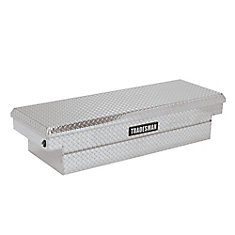 60  inch Cross Bed Truck Tool Box, Mid Size, Single Lid, Push Button, Aluminum