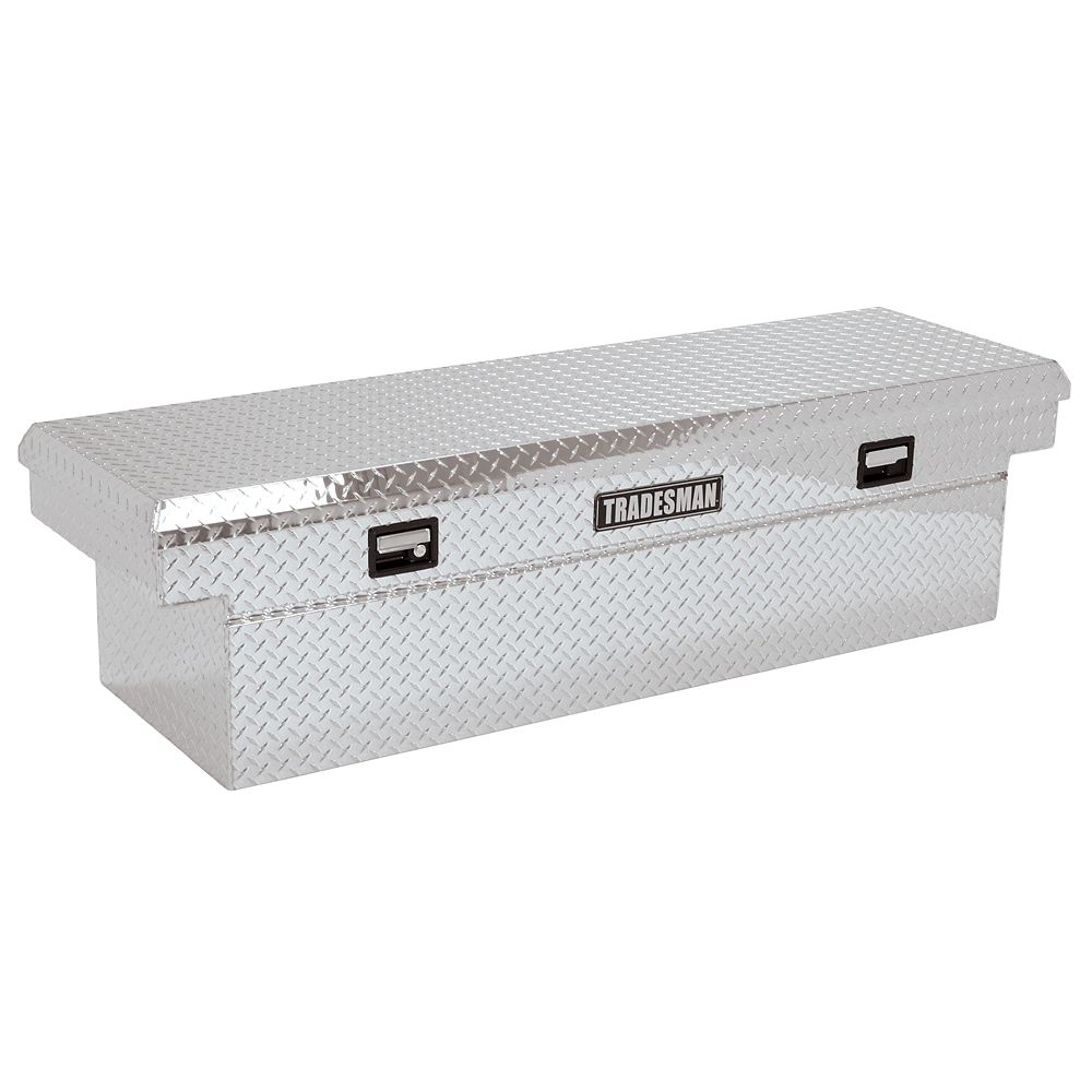 60  inch Cross Bed Truck Tool Box, Mid Size, Single Lid, Deep Well, Aluminum
