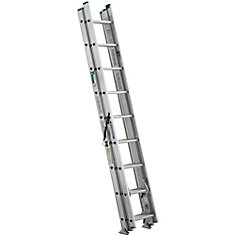 Werner 24 Feet Aluminum 3 Section Compact Extension Ladder