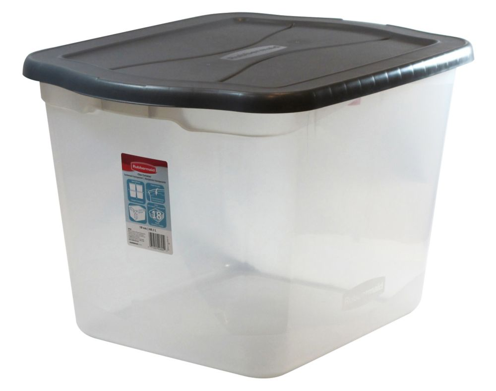 Rubbermaid 68L Clear Tote