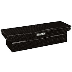 72  inch Cross Bed Truck Tool Box (28  inch Wide), Push Button, Full Size, Single Lid, Aluminum, Black