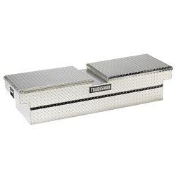 Tradesman Boîte à outils transversale de 60 pouces pour camionnette, intermédiaire, couvercle papillon, aluminium