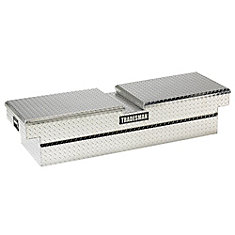 60  inch Cross Bed Truck Tool Box, Mid Size, Deep Well, Gull Wing, Aluminum