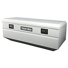 48  inch Flush Mount Truck Tool Box, Mid Size, Single Lid, Steel, White