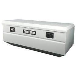 Tradesman Boîte à outils affleurante de 48 pouces pour camionnette, intermédiaire, couvercle simple, acier, blanc