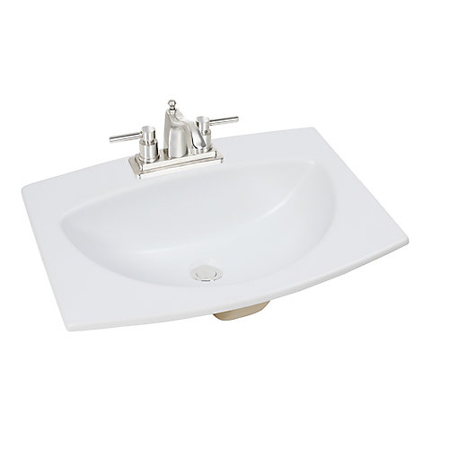 Bathroom Sink 24 X 18 glacier bay 24-inch w x 18-inch d rectangular drop-in bathroom