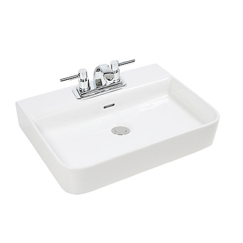 Bathroom Sinks Home Depot Canada glacier bay rectangular vessel sink | the home depot canada