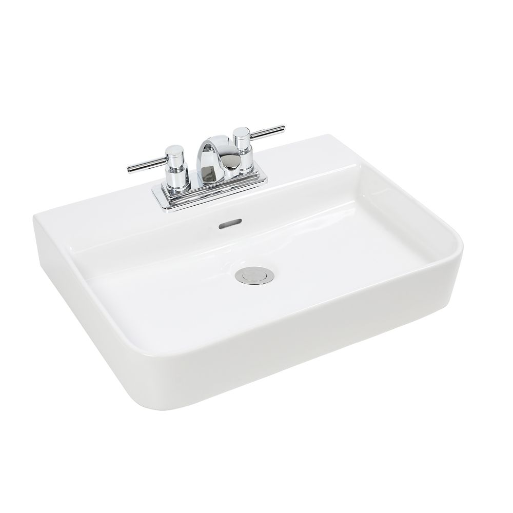 GLACIER BAY Rectangular Vessel Sink