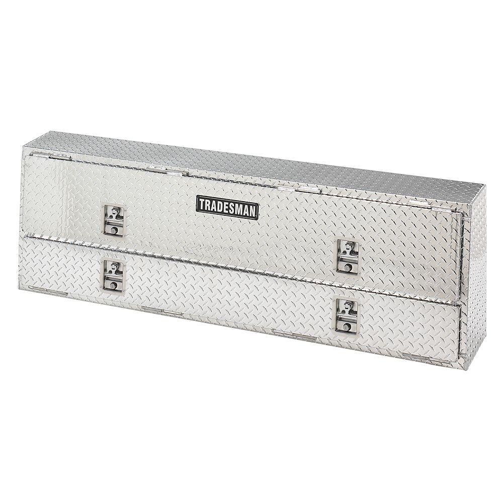 Boîte professionnelle à montage sur rail supérieur de 72 pouces, aluminium