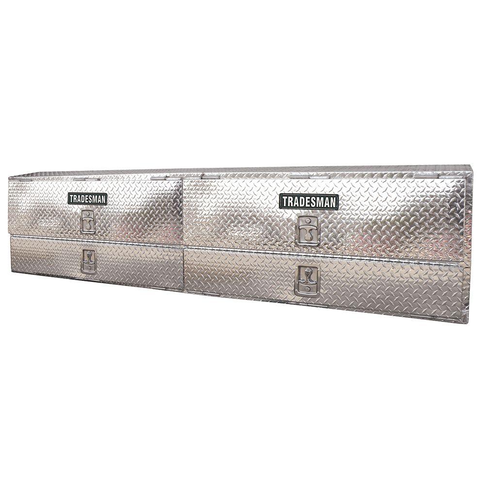 Boîte professionnelle à montage sur rail supérieur de 90 pouces, aluminium