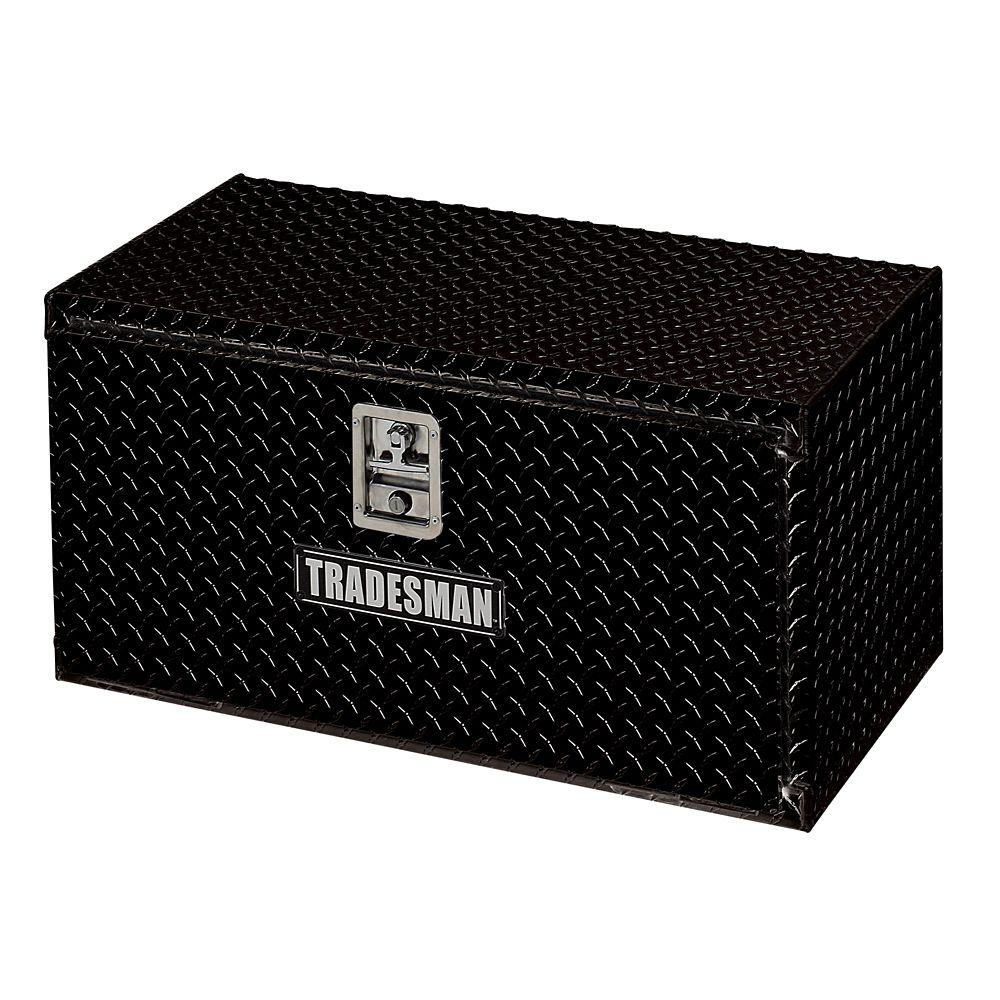 Boîte à outils de 24 pouces pour dessous de carrosserie, aluminium, noir