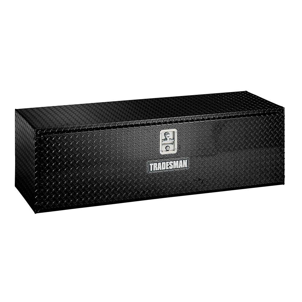 60  inch Underbody Truck Tool Box, Aluminum, Black