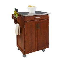 """Create A Cart Chariot de cuisine """"Cottage Oak""""  dessus acier inoxydable"""