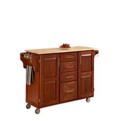 Create A Cart Large Cottage Oak With Wood Top