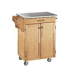 "Create A Cart Chariot de cuisine ""Create"" fini naturel dessus acier inoxydable"