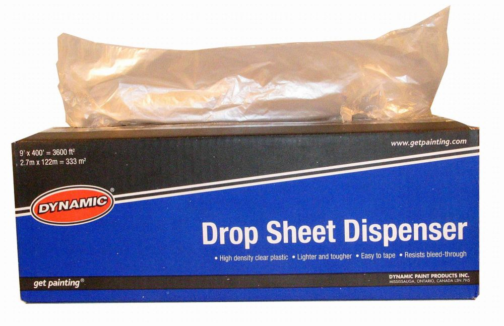 Dropsheet Dispenser, Dynamic, 9 feet  x 400 feet