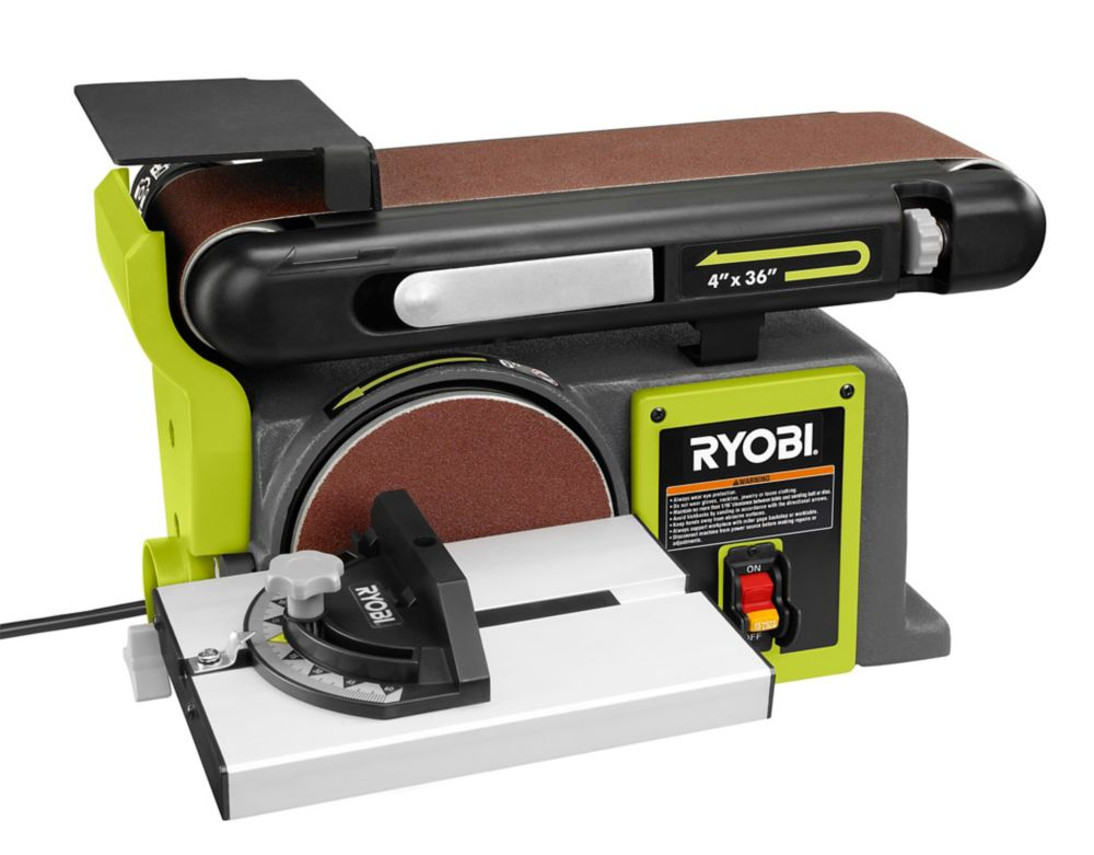 Ryobi 120v 4 Inch By 36 Inch Belt Disc Sander The Home