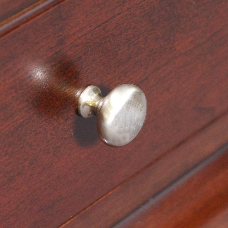 Classic Brass Round Knob In Brushed Nickel Finish