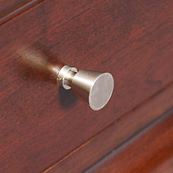American Imaginations Cone Shaped Brass Round Knob In Brushed Nickel Finish