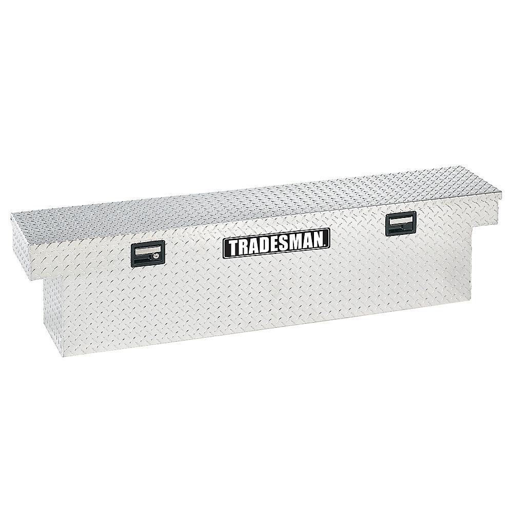 Boîte à outils transversale de 72 pouces pour camionnette, profil bas, caisse pleine grandeur