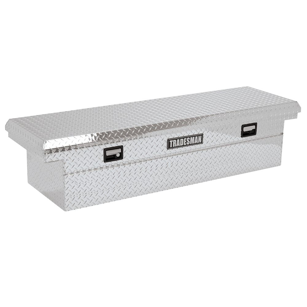 60  inch Cross Bed Truck Tool Box, 16  inch Wide Mid Size Truck Box, Low Profile, Aluminum