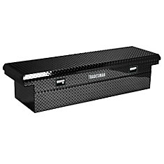 60  inch Cross Bed Truck Tool Box, 16  inch Wide Mid Size Truck Box, Low Profile, Aluminum, Black