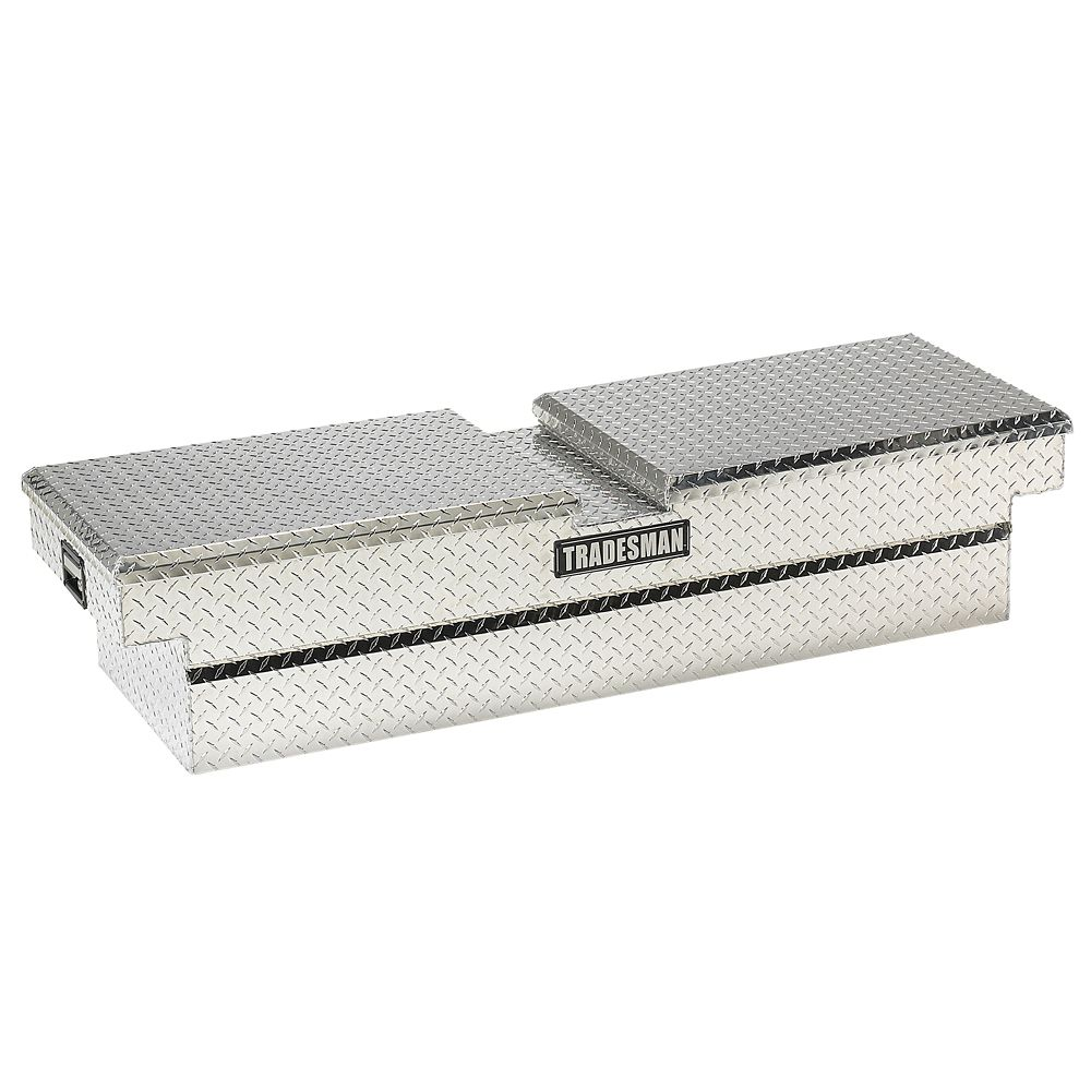 60  inch Cross Bed Truck Tool Box, 16  inch Wide Mid Size Truck Box, Aluminum (Gull Wing)