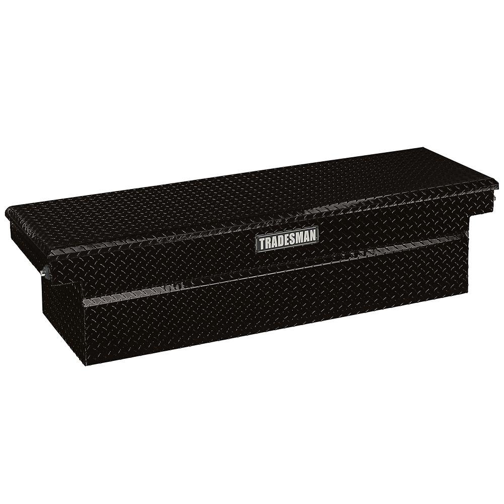 72  inch Cross Bed Truck Tool Box for Heavy-Duty 72  inch Trucks, Single Lid, Aluminum, Black