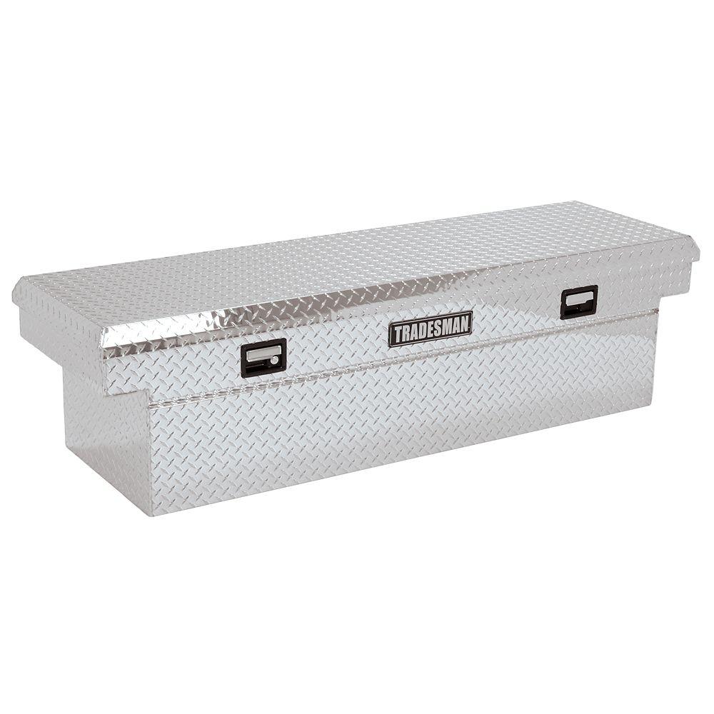 72  inch Cross Bed Truck Tool Box for Heavy-Duty  Trucks, Single Lid, Deep Well,  Aluminum