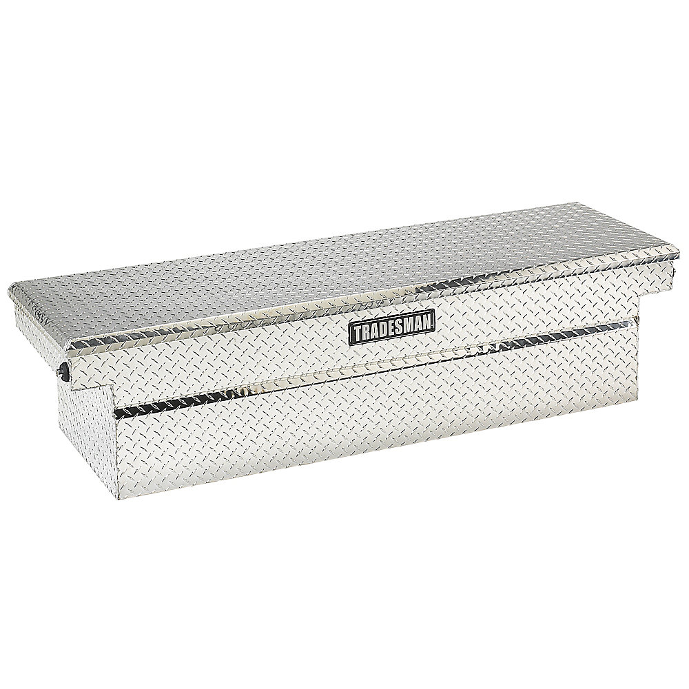 70  inch Cross Bed Truck Tool Box (28  inch Wide), Push Button, Full Size, Single Lid, Aluminum