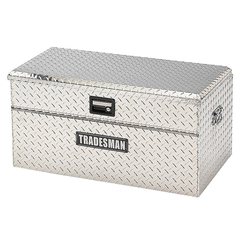 Boîte à outils affleurante de 36 pouces pour camionnette, petit format, couvercle simple, aluminium