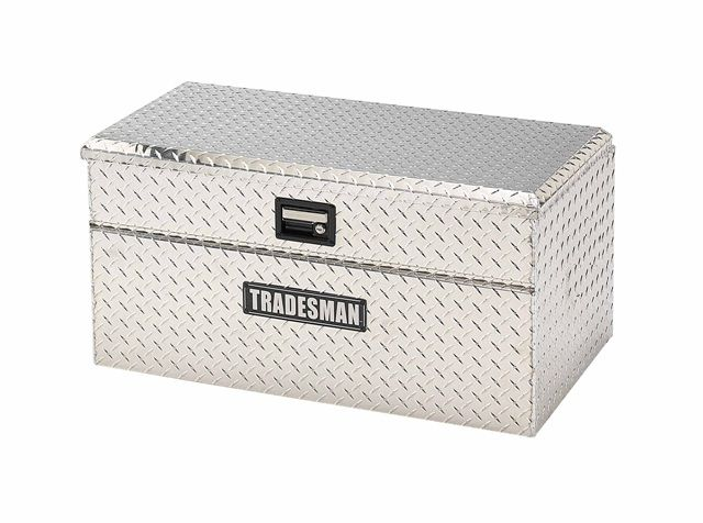 36  inch Flush Mount Truck Tool Box, Small Size, Single Lid, Wide, Aluminum