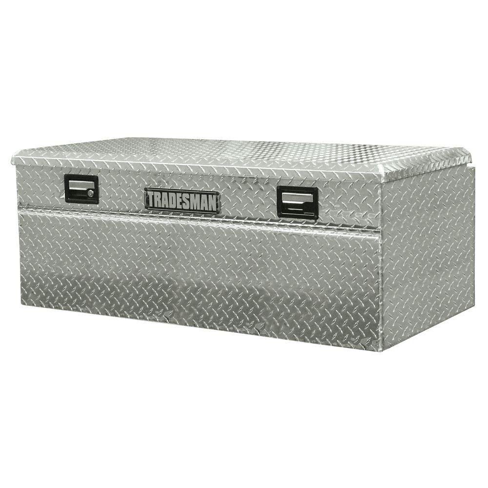 Boîte à outils affleurante de 48 pouces pour camionnette, intermédiaire, couvercle simple, large,...